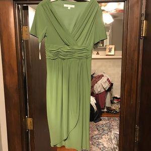 Green Evan Picone wrap dress
